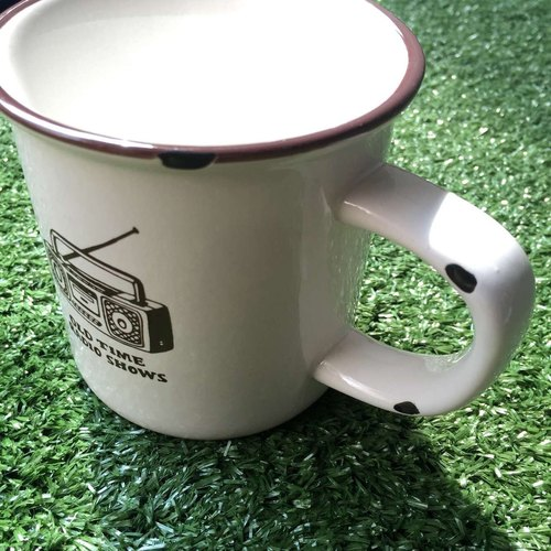 U-PICK original product life imitation of the original enamel ceramic cup Radio