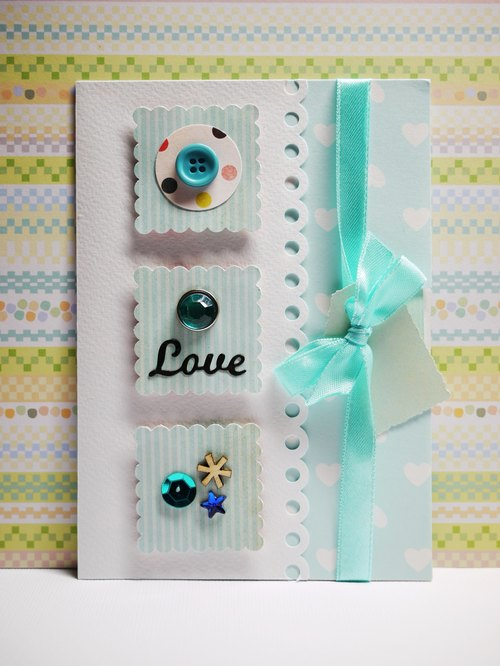 [Yu-crafts handmade cards]-purpose card _ light blue