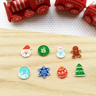 Christmas exchange gifts hand-painted earrings / themselves with one pair of input / ear clip-on can be changed