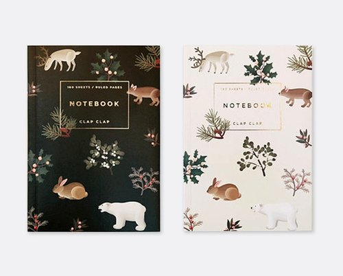 【Clap Clap】Wintry Woodlands Notebook