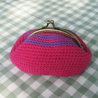 Minibobi hand-woven - bronze mouth gold bag / purse / 000 packets - dragon fruit red + Putao Zi provisions