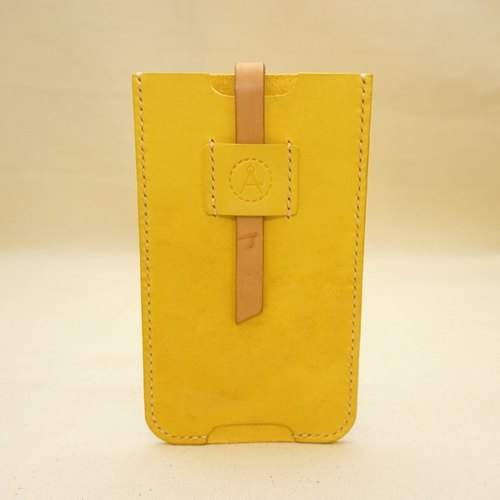 (Fu Lipin) The yellow lemon -iphone 6s plus leather mobile phone case