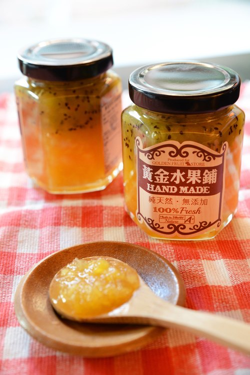 Gold fruit jam kiwi mango shop manual (double)