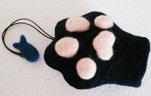 Miniyue wool felt cat palm styling key case Made in Taiwan