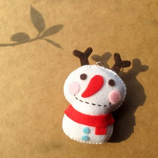 Handmade non-woven charms _ elk snowman... mobile phone straps, key rings, bag charms