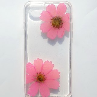 Anny's workshop hand-made Yahua phone protective shell for iphone 6, pink cosmos (transparent soft edge)