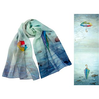 The love story long silk scarf