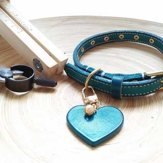 [Handsome] pet collar hand-made leather goods brand (love without collar)