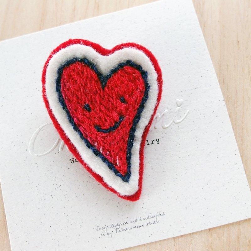 Cha Mimi Hand Embroidery Love Embroidery Pin X Love Designer