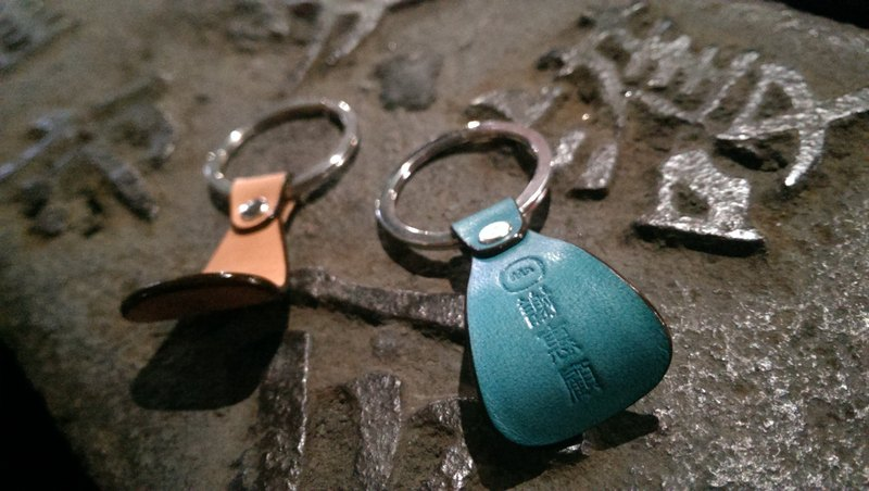 Easy open ring key ring / keychain easy opening cans of Appreciation by Min's patrons are handcrafted leather