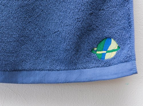 Color blue planet terry towel ❁