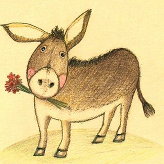 Little Donkey Card