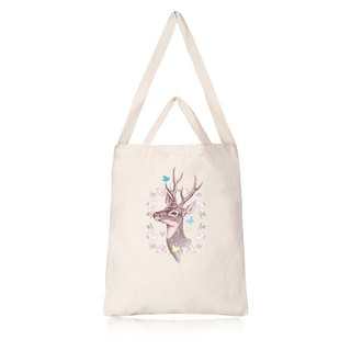 Cultural and creative deer garden wind straight canvas bag