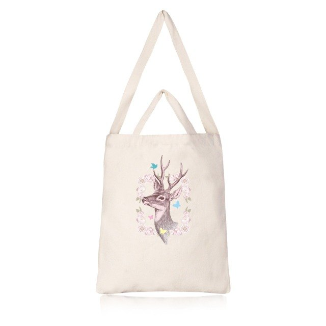 Fawn Garden Cultural and Creative Straight Canvas Bag