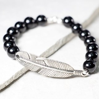 Cool Play Series Black Onyx Bracelet Natural Stone Hand [Fitter]