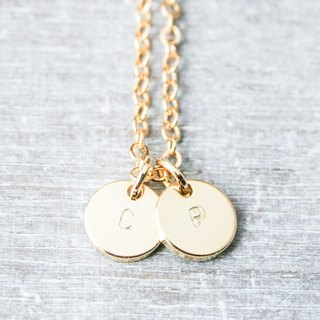Gold Initial Charms Necklace