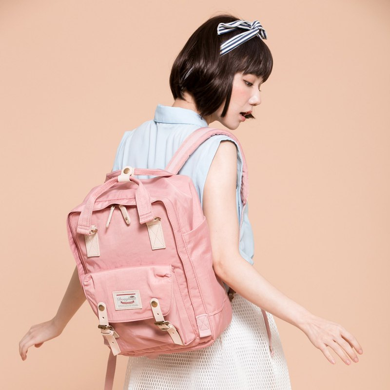 Doughnut Waterproof Macaron Backpack - Rose