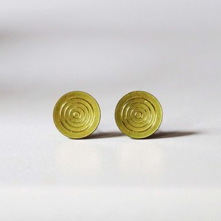 Handmade earrings ♁ golden swirls