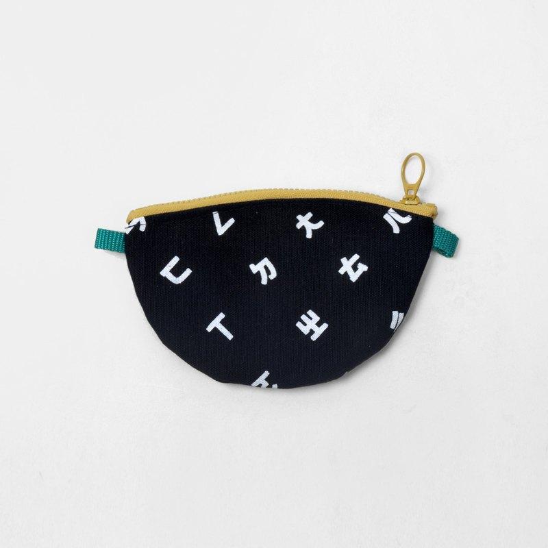 Heysun Taiwanese Secret Word Bopo Phonetic Symbols Screen Printing Purse Black