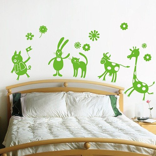 """Smart Design"" Creative trace animal garden wall stickers ◆ B"