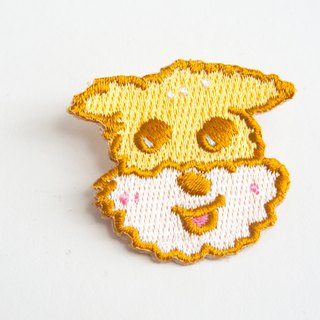 Ogi Angel Schnauzer Embroidered Pin Patch