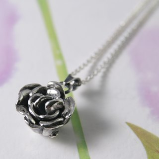 Sterling Silver Necklace / Rose