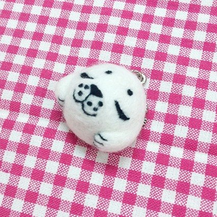 <Wool felt> Childhood Hugging Spotted Seal(M Size) - by WhizzzPace