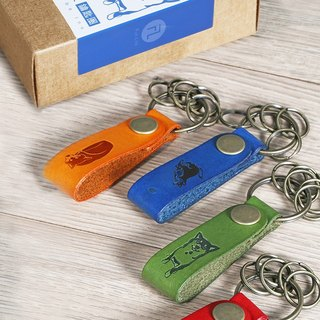 FL brand / dog retro series leather buckle keychain Product Code: KD-5