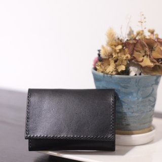 Make Your Choicesss Sew Italian vegetable-tanned leather rectangle card holder