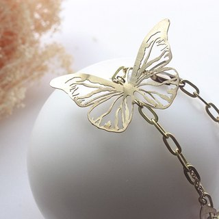 Golden Nature Butterflies Bracelet / Handcraft Jewelry