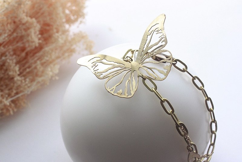 Golden Nature Butterflies Bracelet Handcraft Jewelry Designer