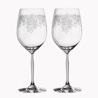 (One pair price) 620cc [MSA] German wedding cup dedicated to vintage theatrical SPIEGELAU Bordeaux platinum crystal cup cup wedding gift