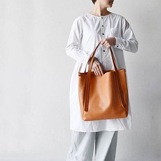 Japanese handmade leather simple classic soft shoulder bag Made in Japan by TEHA 'AMANA