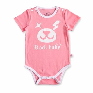 PUREST Lightning Bear Baby Short Sleeve Romper / Jumpsuit [100% Made in Taiwan] Pink