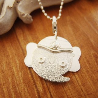 Indian elephant god Ganesh Silver Necklace ---