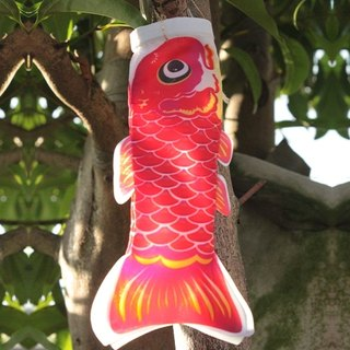Taiwan Fish Flag 15 CM (RED)