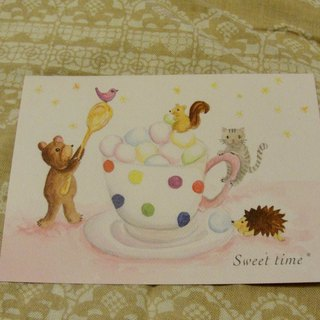 * Zoe's forest * Bear marshmallows party postcard (cs13)