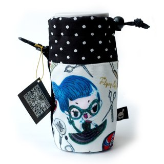 Water bottle bag. Flying Sofye Su Fei illustration