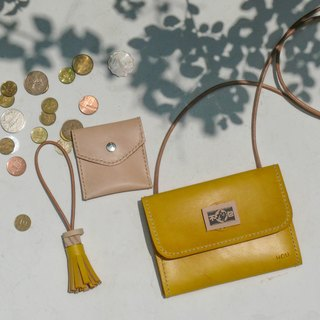 Do not hit the package lemon yellow three plus a vegetable tanned leather full leather clutch bag