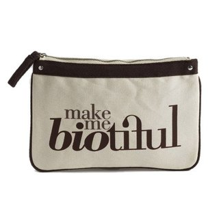 France my biotiful bag Organic Cotton Big Flat Pouch-Brown