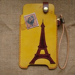 [ISSIS] Loving the Eiffel Tower - iPhone4 / 4s iphone5 Samsung galaxy S2 S3 phone holster full handmade