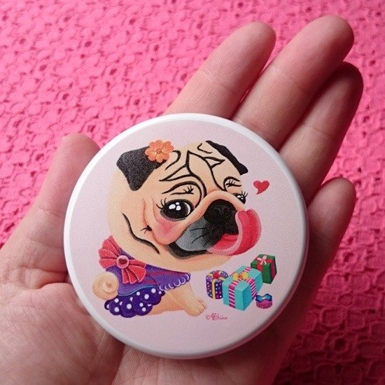 Pug Pocket Mirror-The Best Gift!