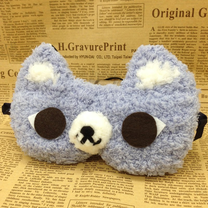 棉花糖動物眼罩-小灰貓