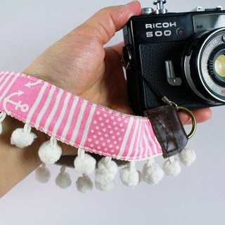 Hand-made monocular Class monocular, camera, cell phone wrist strap. Wrist rope --- pink sailor hairball paragraph
