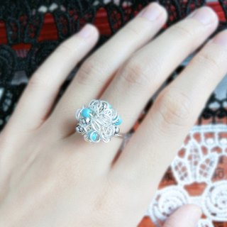【Bouquet】 Turkey stone (turquoise) ring