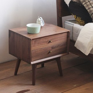 Lushan Workshop - Walnut / Cherry Wood - Solid wood bookcase, magazine cabinet, side cabinet, bedside table