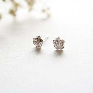 925 Silver Rose Earrings-Sold as a Pair