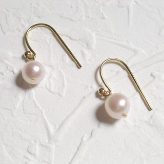 Pure natural pearl earrings