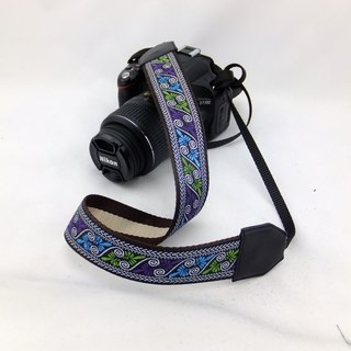 Camera strap can print personalized custom leather stitching national wind embroidery pattern 035