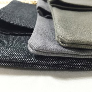Wahr_all for gray  clutch / chain bag / shoulder bag/with chain